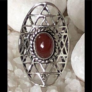 Jewelry - 🎉✨CARNELIAN SIVER RING🎊🎀